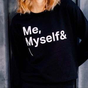 NEW Me myself and I graphic top shirt oversized